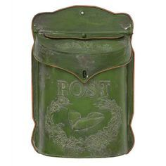 If you're lucky the postman still delivers the mail to your front door and you can charm the neighborhood with this vintage wall mounted box. If your delivery is on the street you can still put this r...