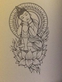 Buddha art print by Libbyfireflyart on Etsy, £6.00