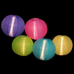Asian Fusion Colorful Chinese Lantern Garden Patio Lights