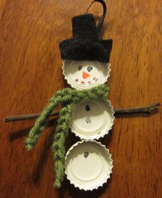 DIY Easy Snowman Christmas Ornaments - OCCASIONS AND HOLIDAYS