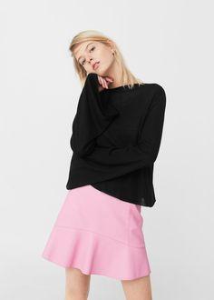 Flared sleeves sweater - Women | MANGO USA