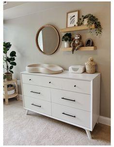Baby Nursery Decor, Baby Bedroom, Nursery Neutral, Baby Decor, Neutral Nurseries, Nursery Room, Ikea Baby Room, Nursery Mirror, Ikea Nursery