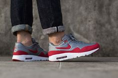 """Nike Air Max 1 Ultra Moire """"Metallic Cool Grey/Gym Red"""""""