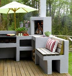 bygge kjøkkenbenk i hagen - Google Search
