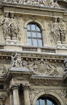 Exterior caryatids and beautiful details.