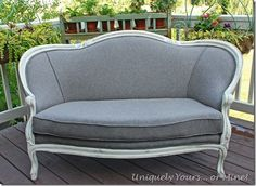 How to reupholster a vintage settee