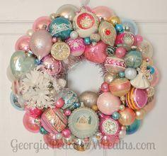 Vintage Ornament Wreath   Flickr - Photo Sharing!