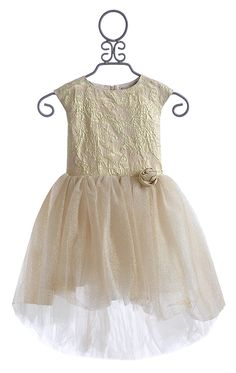 Halabaloo Gold Special Occasion Dress - one of our favorite holiday dress choices here at our Santa Rosa location!