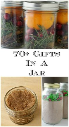 These Mason Jar gift tutorials that are perfect when you need to make a lot of last minute gifts at once! via (mason jar food tutorials) Mason Jar Meals, Mason Jar Gifts, Meals In A Jar, Mason Jar Diy, Gift Jars, Recycled Jars, Mason Jar Projects, Diy Projects, Tween Girl Gifts
