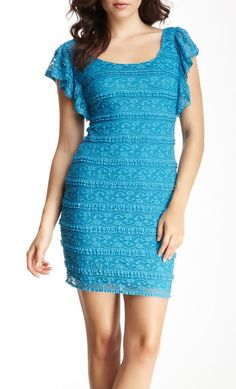 GUESS Flutter Sleeve Crochet Dress...but I don't like the sleeves...