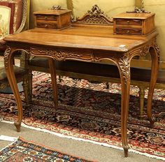 Delicieux C1920 Rococo Revival Three Pc Parlor Set, Mahogany, Oval Metal Label Karpen  Furniture