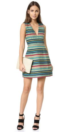 alice + olivia Piece & Co Pacey Low V Neck Lantern Dress | SHOPBOP SAVE UP TO 30% Use Code: MAINEVENT16