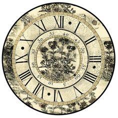 VINTAGE, EL GLAMOUR DE ANTAÑO: Láminas Decoupage, 3/Relojes y Flores