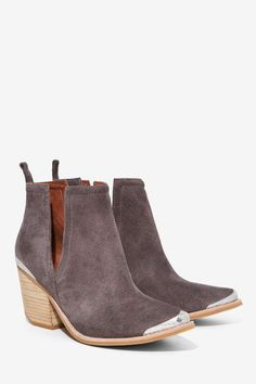 Jeffrey Campbell Cromwell Suede Bootie - Gray - Boots + Booties | Best Sellers | Jeffrey Campbell