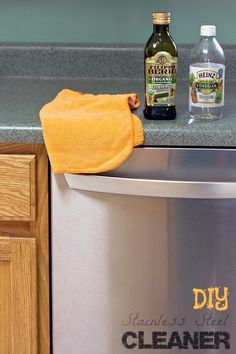 DIY Stainless Steel Cleaner - get your stainless steel appliances clean and shiny without chemicals. Like when they were brand new! Get more great money saving tips from All You magazine & enter to win a $50 GC #lifeforless #PMedia #ad