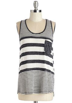 Here to Staycation Top in Charcoal, @ModCloth