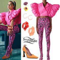 Pink Tops, Black Tops, Beige Blazer, Best Black, Brown Pants, Blue Bikini, Blazer Dress, Black Tights, Cropped Jeans