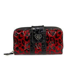 Love this Red Leopard Skull Embossed Wallet on #zulily! #zulilyfinds