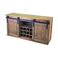 Wood Wine Storage Cabinet/Molly's Marketplace/custom wine cabinet/wine storage/cabinet with sliding barn doors