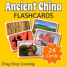 Ancient China for Kids: printable ancient China flashcards for classroom games and activities. Classroom Games, Classroom Ideas, Ancient China History, China For Kids, Printable Flashcards, History For Kids, Year 7, Chinese Culture, Matching Games