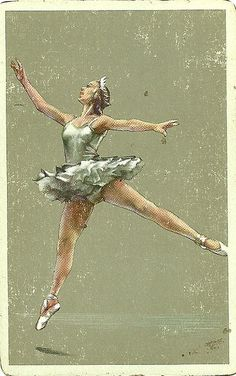 vintage playing card ballerina by Millie Motts, via Flickr