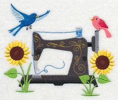 A fine example of machine embroidery