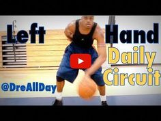Dre Baldwin talks about How To Improve Your Left Hand: Dribbling & Layups Daily Drill Circuit for Basketball. Basketball Finals, Basketball Tricks, Basketball Practice, Basketball Workouts, Basketball Skills, Basketball Coach, Basketball Uniforms, Basketball Hoop, Street Basketball