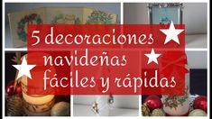 🌟5 DECORACIONES NAVIDEÑAS FÁCILES Y RÁPIDAS🌲  DECOUPAGE 🎁RECICLAJE 🎅🏿 MA... Diy Adornos, Decoupage, Artwork, Home Decor, Youtube, Christmas Decor, Decorated Bottles, Noel, Work Of Art