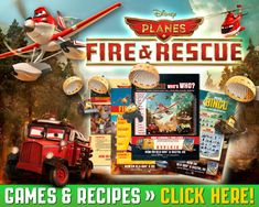 Free printable Planes: Fire and Rescue Games & Recipes