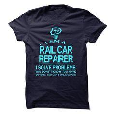 RAIL CAR REPAIRER T-Shirts, Hoodies. CHECK PRICE ==► https://www.sunfrog.com/No-Category/RAIL-CAR-REPAIRER-58251161-Guys.html?id=41382
