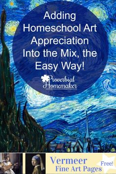 Art is one of those subjects that seems to always take the back burner due to time restraints. Add homeschool art appreciation to the mix with these tips!