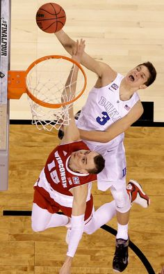 Freshman Grayson Allen shooting over Sam Dekker had 16 points off the bench.  Duke Defeats Wisconsin to Win N.C.A.A. Men's Basketball Championship (004-07-2015) - NYTimes.com