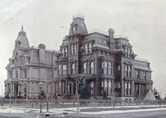 Boeing House - The Boeing House, left, and C.R. Mabley mansion. Both were razed in the early 1900s-1910s.