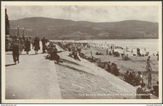 Merionethshire - The Beach from Marine Parade, Barmouth, c.1950 - Postcard