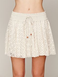 Free People Drawstring Lace Mini Skirt at Free People Clothing Boutique