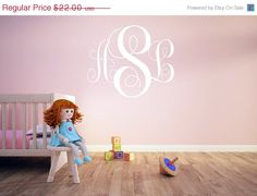 Hey, I found this really awesome Etsy listing at http://www.etsy.com/listing/158911100/on-sale-vinyl-monogram-decal-large-vinyl
