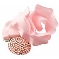 Prendedor de chupetas com pedras de Swarovski Rosa - Unique - R$ 119,90