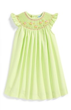 Luli+&+Me+'Pistachio'+Smocked+Dress+(Baby+Girls)+available+at+#Nordstrom