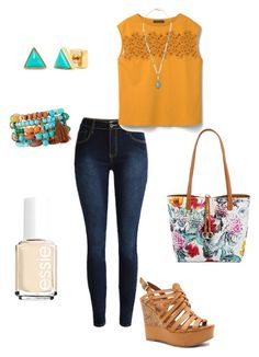 """""""Untitled #271"""" by kmysoccer on Polyvore featuring Violeta by Mango, Qupid, Panacea, Stella & Dot, Bueno, NAKAMOL and Essie"""
