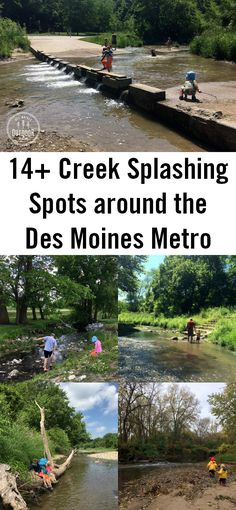 A list of good creeks to play in around central Iowa - the Des Moines metro area. See pictures and find out where to park and play.