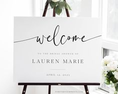 Minimalist Welcome Sign Template Printable Modern Bridal | Etsy