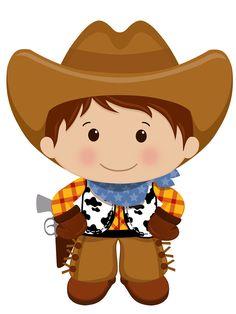 Cowboy / Vaqueiro / Country / Western / Velho Oeste / Festa / Decoração / Faroeste / Clipart / Desenho