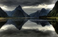 Storm approaching Milford Sound New Zealand by Kenny Muir