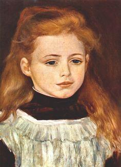 Portrait of Lucie Berard by Pierre-Auguste Renoir, 1879        Artist:  Pierre-Auguste Renoir        Completion Date: 1879