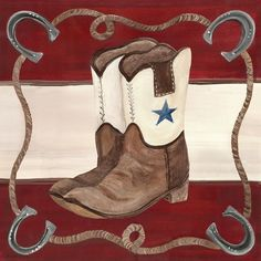 Lil' Buckaroo Boots Canvas Reproduction