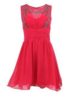 Little Mistress - Růžové šaty se zdobeným topem - 1