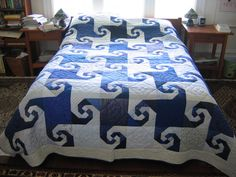 A traditional Snail's Trail Quilt pattern