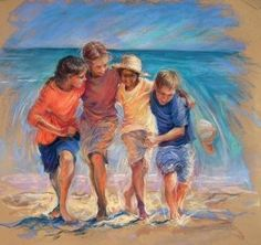 How to paint lifelike portraits of children in pastel