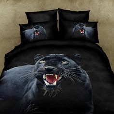3D Black Panther Bedding Set. 100% cotton. Sizes Full, Queen and King 4 pcs | Buy Online |Duvet Life