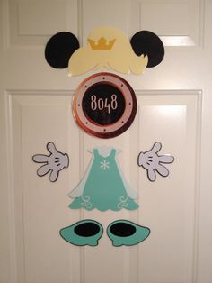 Queen Elsa from Frozen Disney Cruise Door Magnets on Etsy!  $20.00